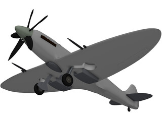 Supermarine Spitfire MK XIV 3D Model