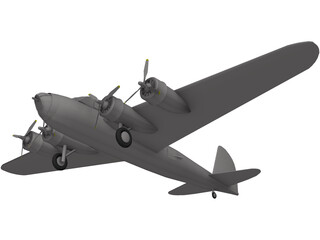 Boeing B-17-A Flying Fortress 3D Model