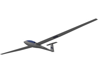 Glasflugel Glider 3D Model