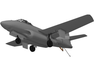 Douglas F3D-2 Skyknight 3D Model