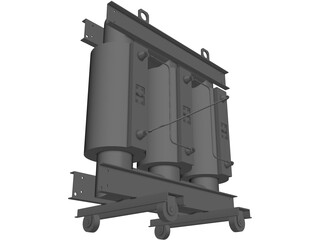 Power Electric Transformer 3D Model