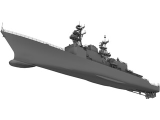 DD-963 Spruance Class Destroyer 3D Model