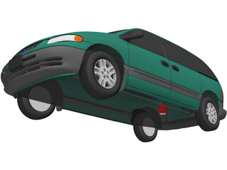 Plymouth Voyager SE (1996) 3D Model