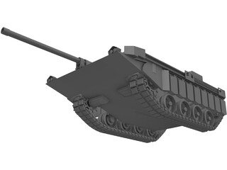 Stridsvagn 103 3D Model