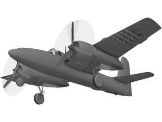 Grumman F7F Tigercat 3D Model