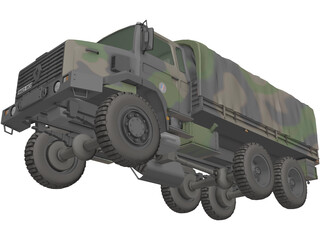 Renault GBC 180 Army Truck 3D Model
