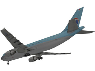 Airbus A300-600 Korean Air 3D Model