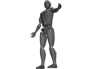 Crash Test Dummy 3D Model