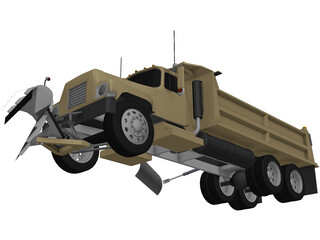 International 1700 Snow Truck 3D Model