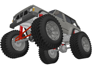 Nissan Patrol 4x4 Offroad Lifted 3D Model