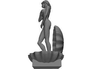 Aphrodite in Shell 3D Model