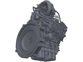 Engine Isuzu 3CA1GZG01 3D Model