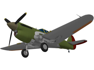 Curtiss P-40E 3D Model