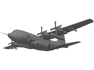 Lockheed AC-130U Spooky 3D Model