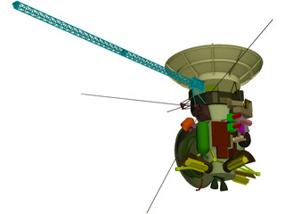 Cassini Satellite 3D Model