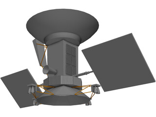 Magellan Satellite 3D Model