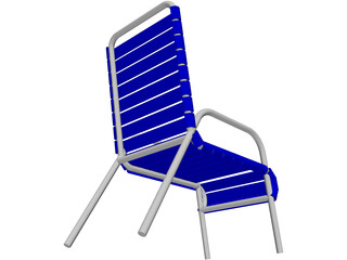 Beach Chair with Slats 3D Model