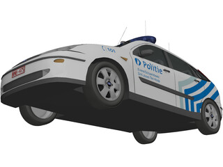 Ford Focus Police (Belgium) 3D Model