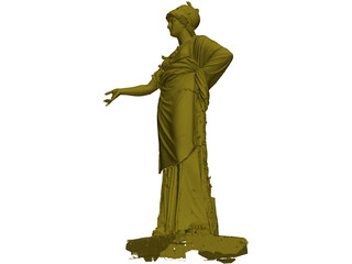 Classical Relief Statue 3D Model