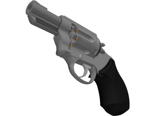 Smith&Wesson Snub Nose 357 Magnum 3D Model