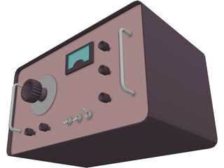 Radio Fifties 3D Model
