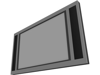 Flat Screen TV 3D Model