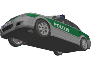 Opel Vectra Polizei (2004) 3D Model
