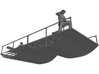 Ponton Bridge PMP 3D Model