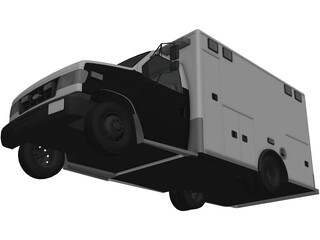 Ford E350 Ambulance 3D Model