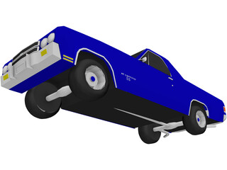 Chevrolet El Camino SS 454 3D Model