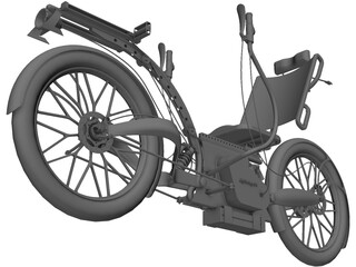 Recumbent Electric Bicycle 3D Model