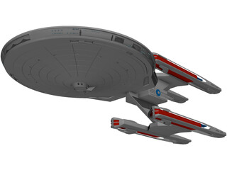 USS Stargazer 3D Model