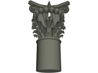 Acanthus and Volute Column 3D Model