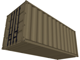 Container 20ft Shipping 3D Model