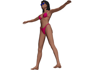 Woman Bikini 3D Model