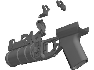 Airsoft GP-30 Grenade Launcher 3D Model