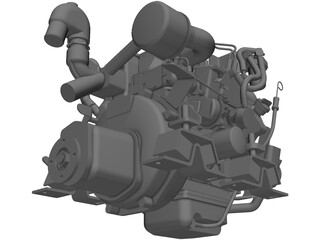 Yanmar 2cyl Engine 3D Model