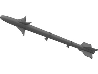 AIM-9 Sidewinder 3D Model