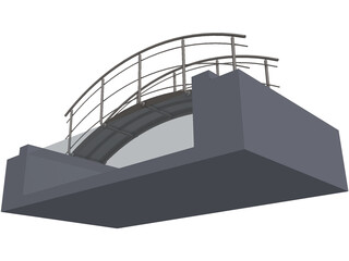 Bridge Pool 3D Model