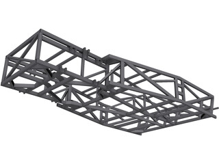 Kit Car Frame 3D Model