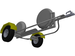 Collapsible Motorcycle Trailer 3D Model