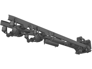 Truck Chassis and Suspension 3D Model