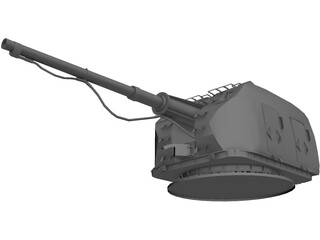 A-190E Naval Gun 100-mm 3D Model