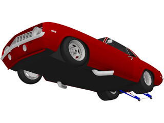 Chevrolet Camaro Pro Drag 3D Model