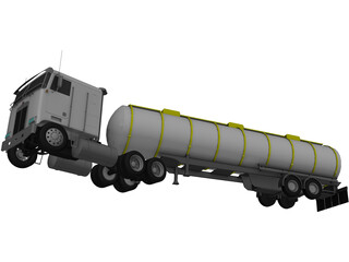Kenworth K100 Tanker 5-axle 3D Model