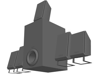 Creative Inspire T5400 Speakers 3D Model