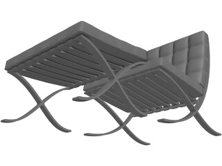 Chair Designer Footrest 3D Model