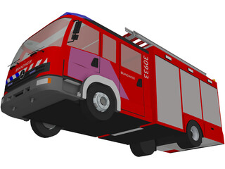 Mercedes-Benz Atego Brandweer Fire Truck 3D Model