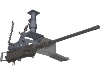 Browning 50 cal. 3D Model