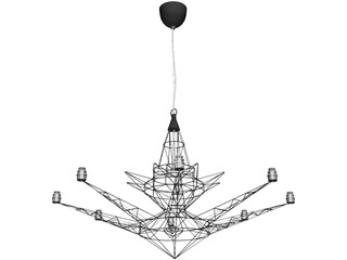 Lightweight Suspension Lamp 3D Model